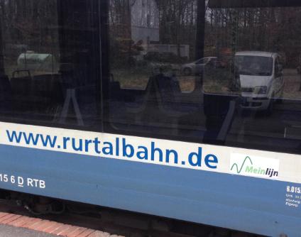 Ludieke actie op station Dalheim (Meinlijn)
