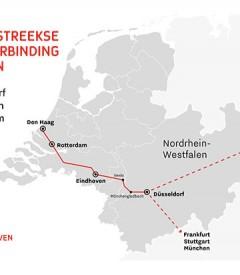 Eindhoven en Düsseldorf willen snelle treinverbinding tussen steden
