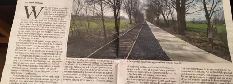 Gelderlander: Spoorlijn Kleef moet terug